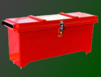 Fiberglass battery boxes for industrial generators and heavy equipment.